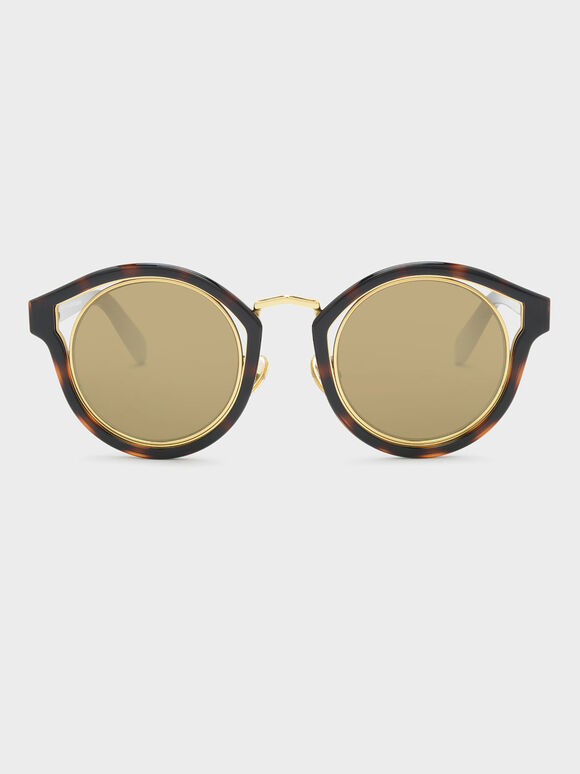 Cateye Frame Shades, T. Shell, hi-res