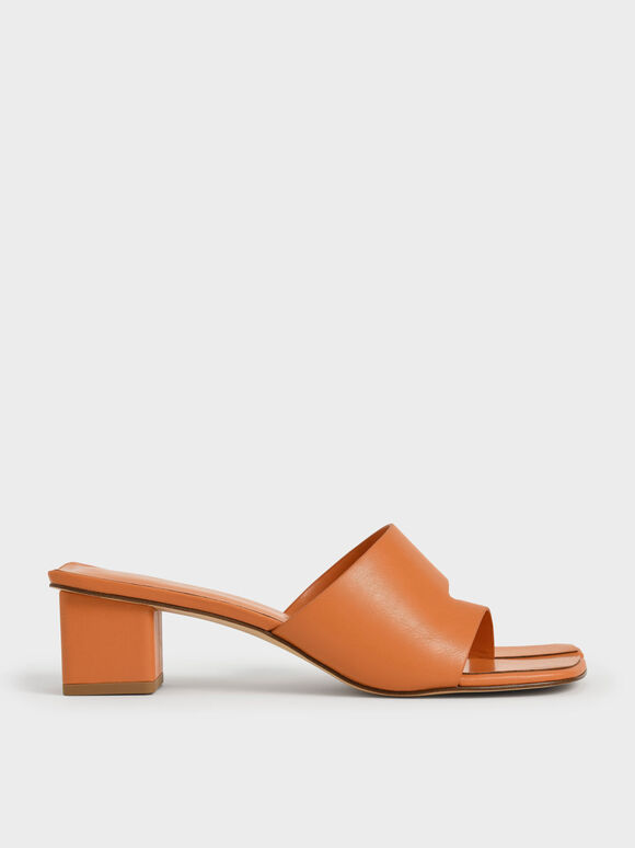 Cut-Out Thong Sandals, Orange, hi-res