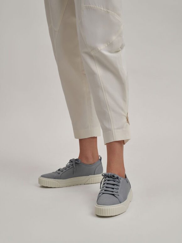 Recycled Cotton Low-Top Sneakers, Light Blue, hi-res