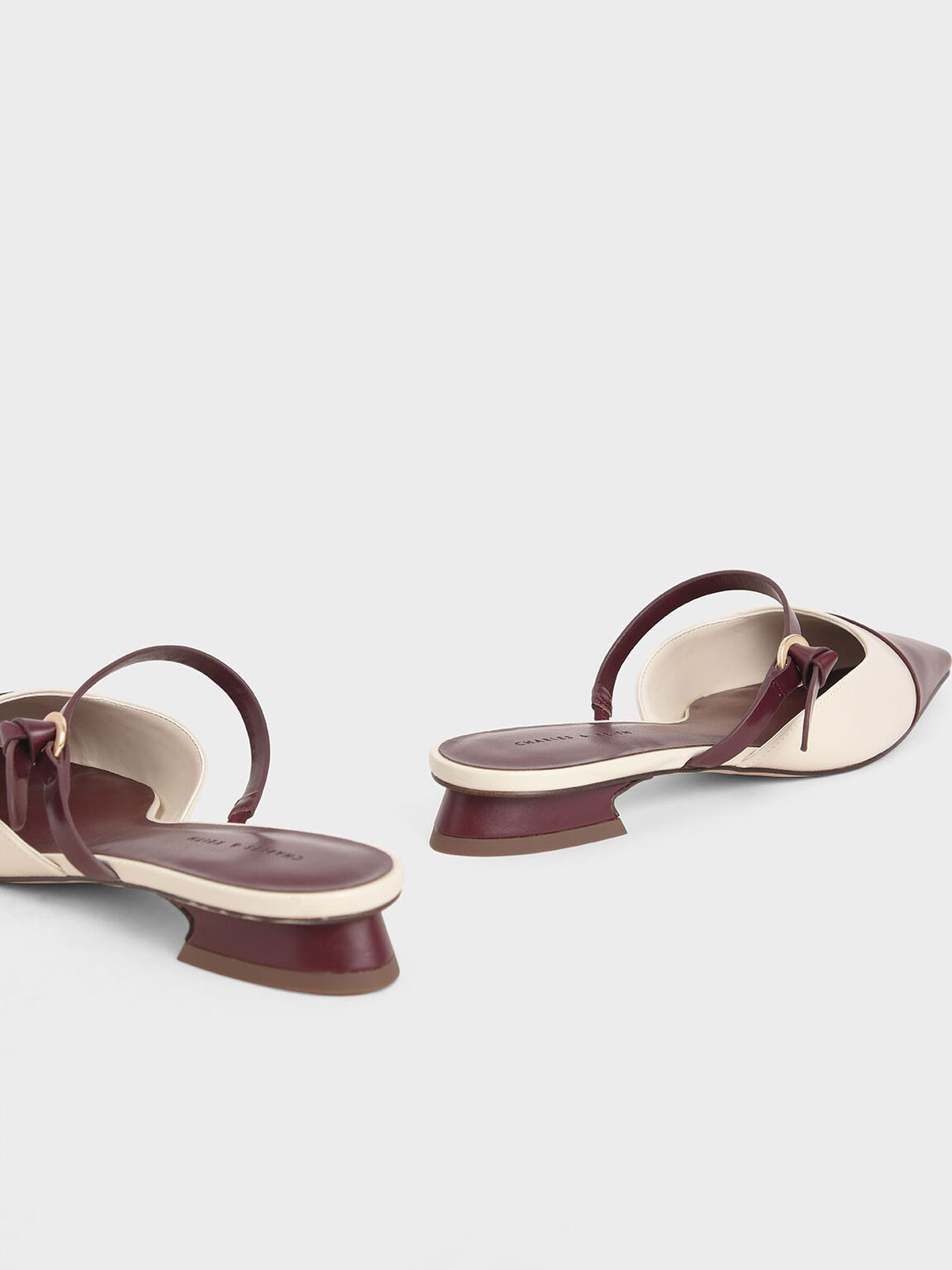 Mary Jane Strap Flat Mules, Maroon, hi-res