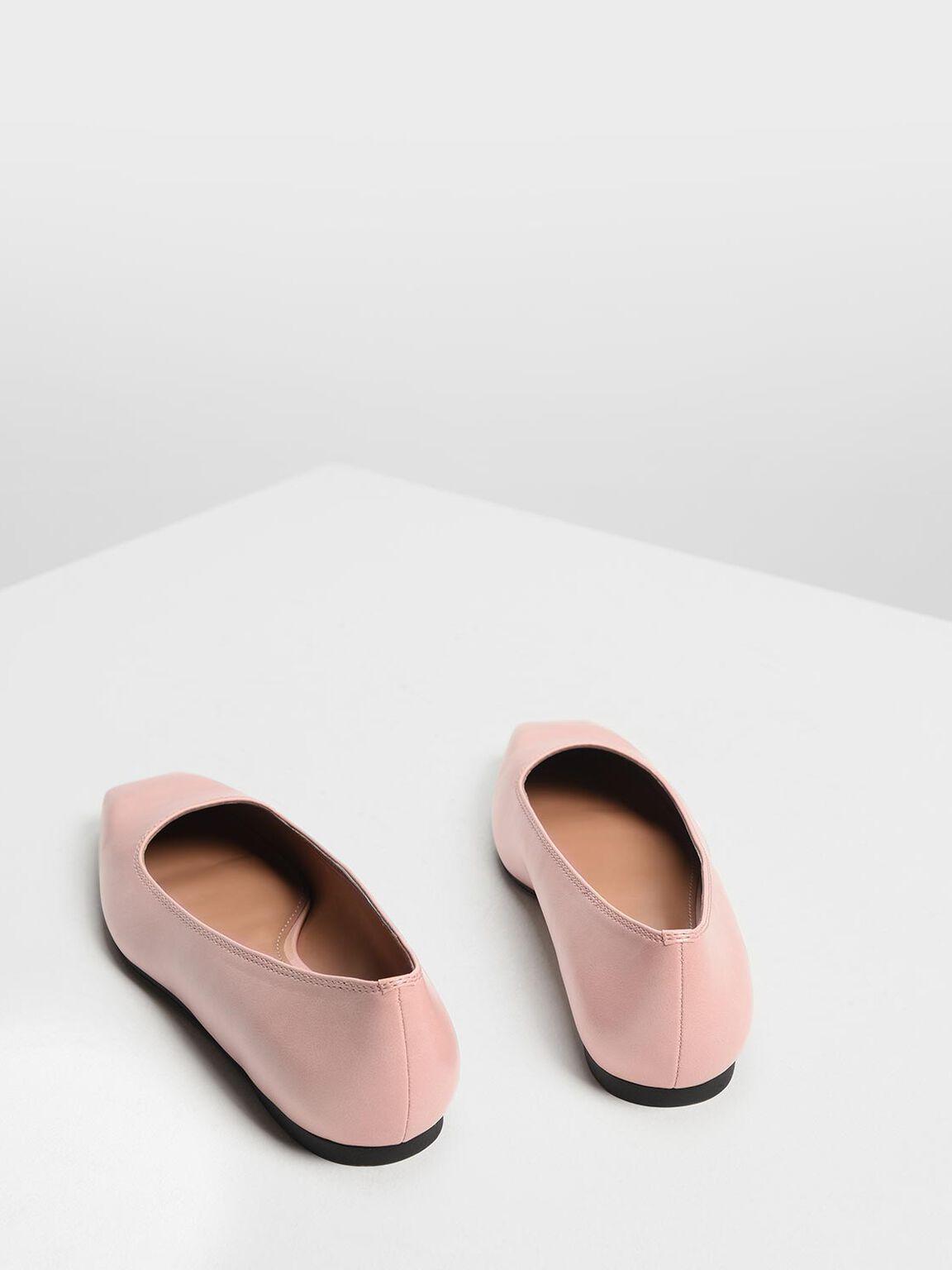 Square Toe Ballerinas, Blush, hi-res