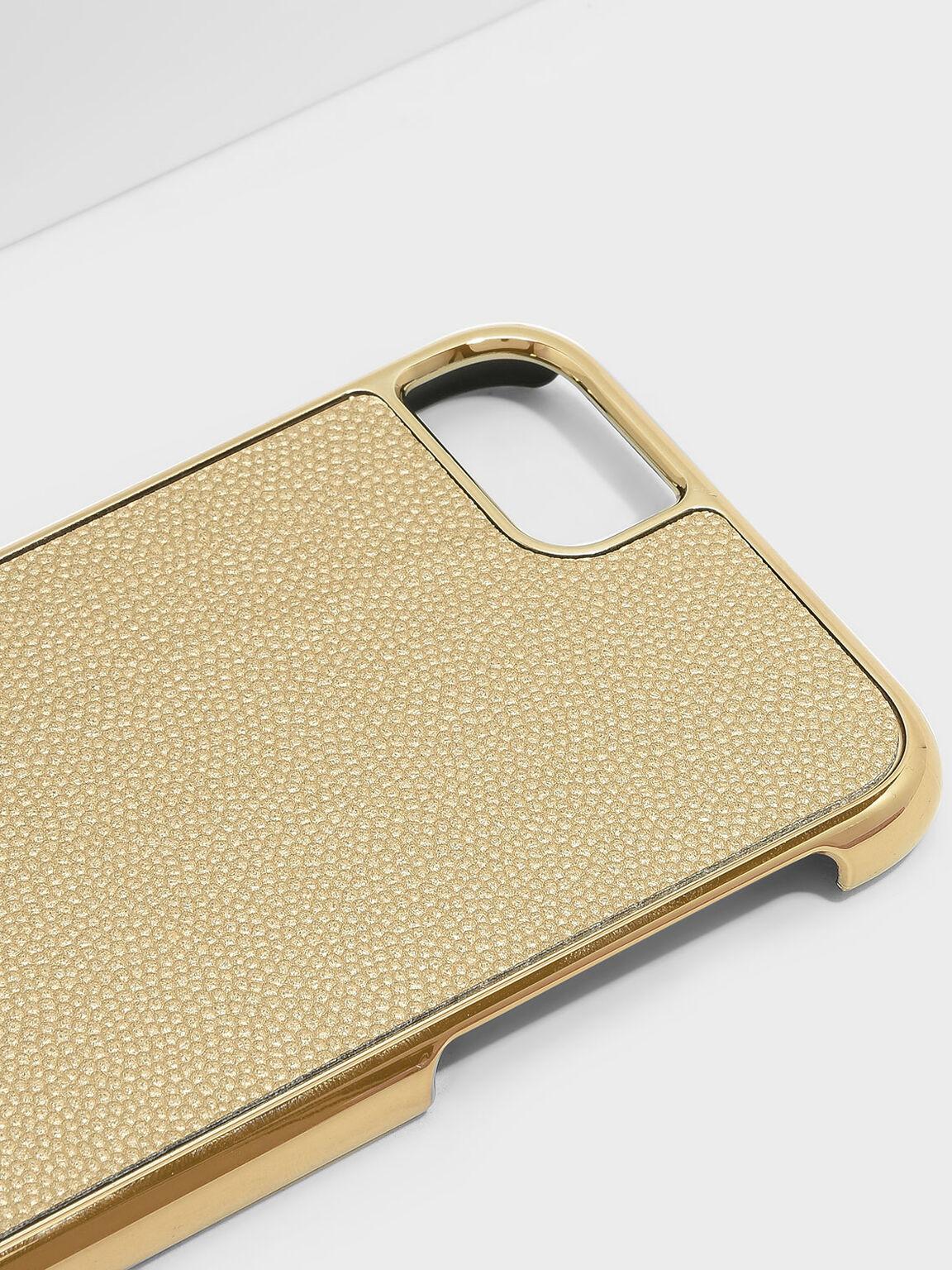 iPhone 7/8 Textured Case, Gold, hi-res