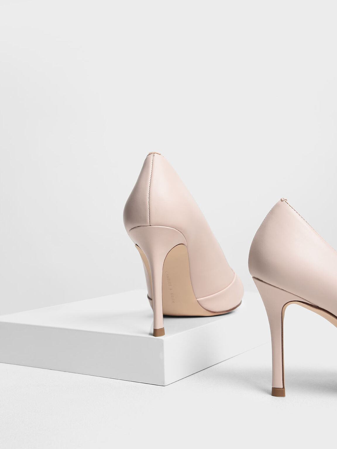 Ruched Pointed Pumps, Pink, hi-res