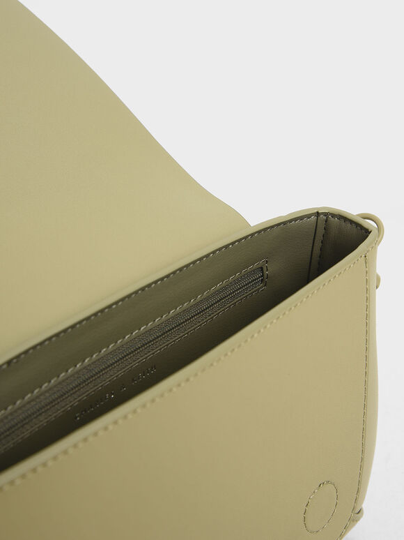 Front Flap Crossbody Bag, Sage Green, hi-res