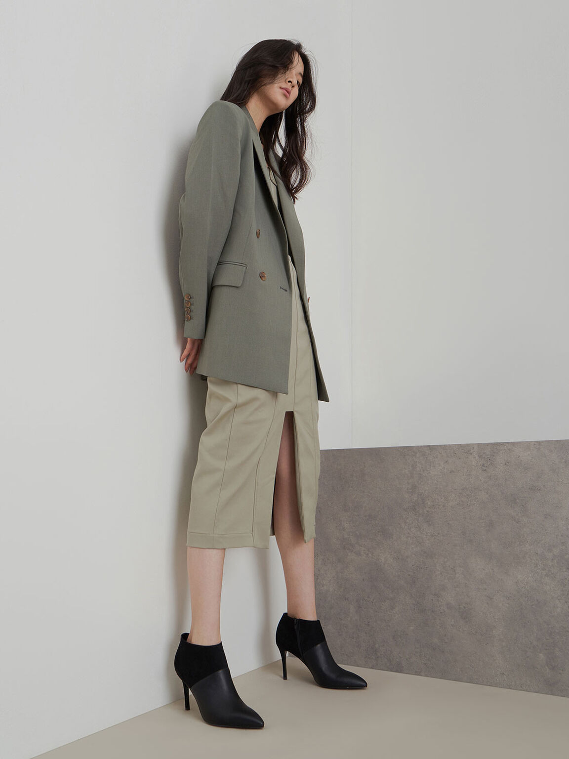 Stiletto Ankle Boots, Black, hi-res