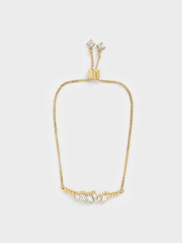 Swarovski® Crystal Embellished Chain Bracelet, Gold, hi-res