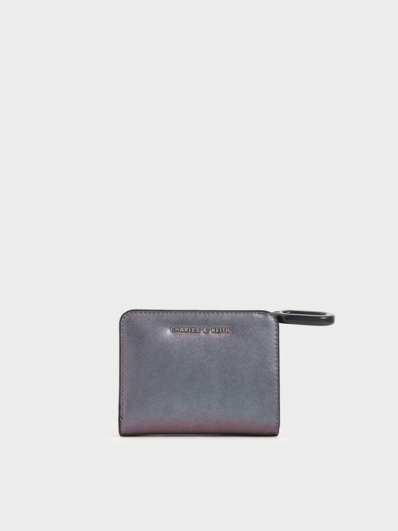 Mini Top Zip Small Wallet, Peacock, hi-res