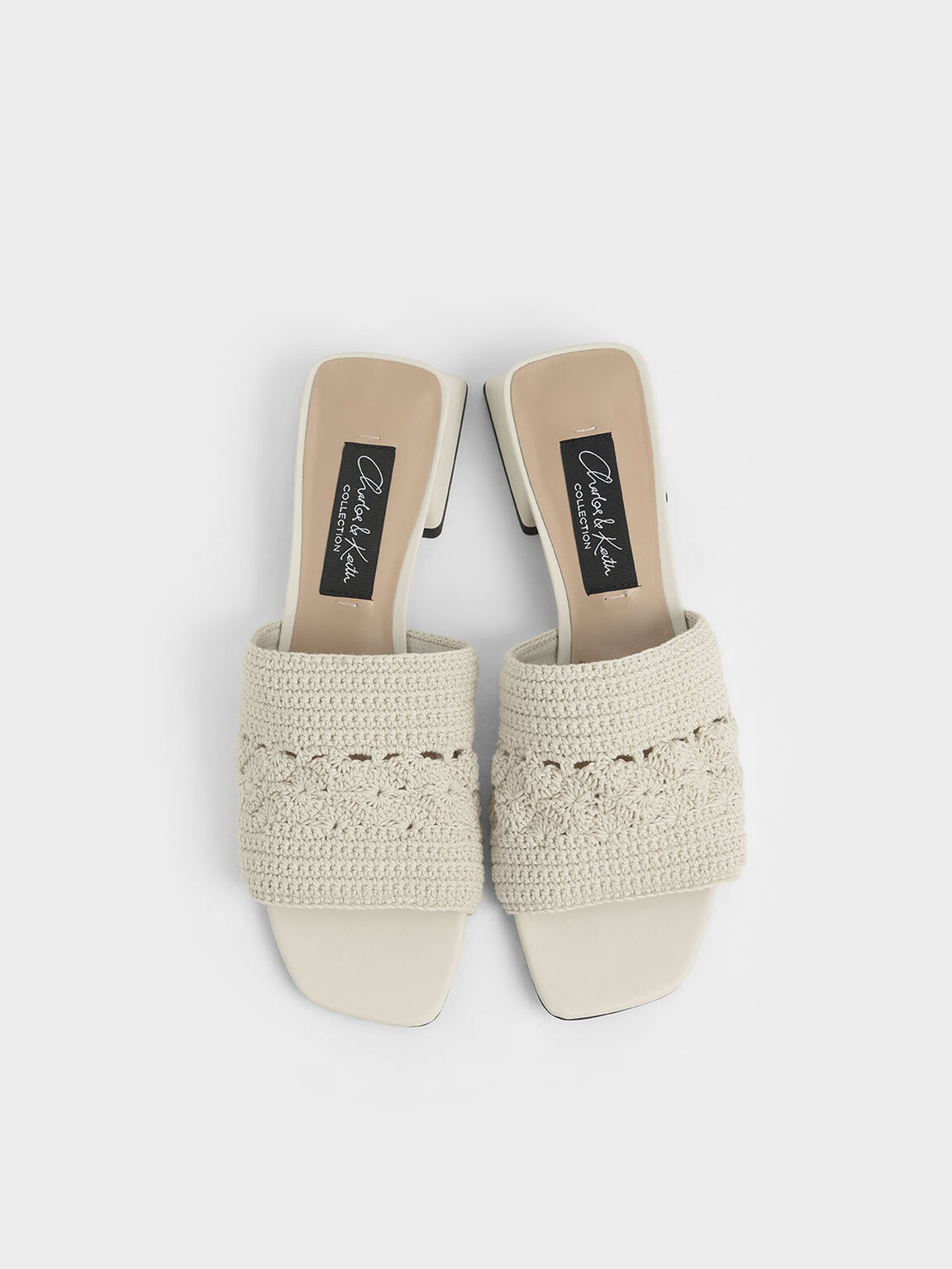 Crochet Mules, Chalk, hi-res