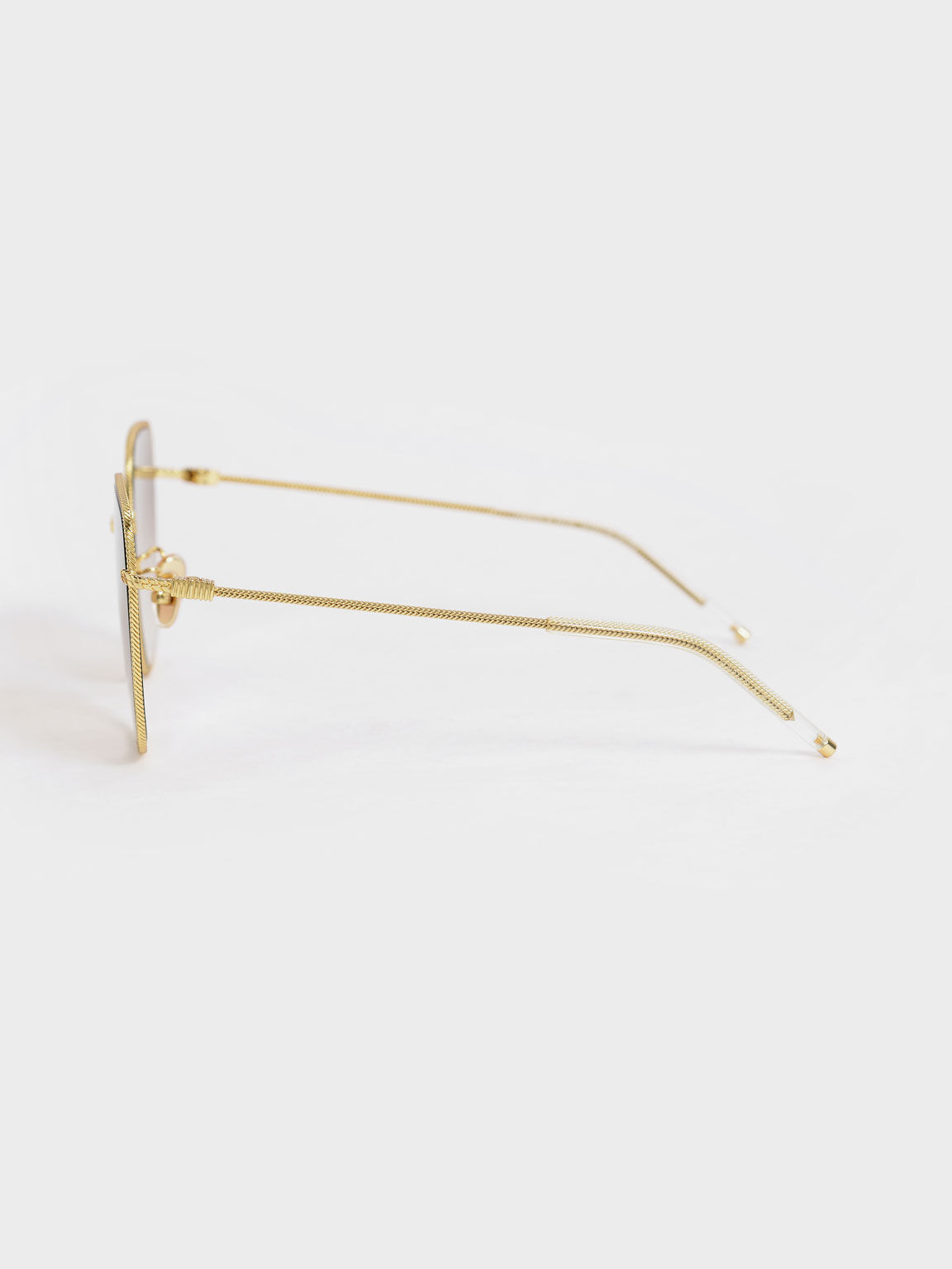 Geometric Butterfly Sunglasses, Gold, hi-res