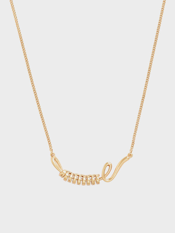 Twist Princess Necklace, Brush Gold, hi-res