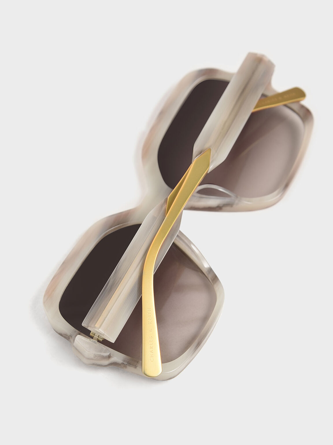 Oversized Square Sunglasses, Cream, hi-res