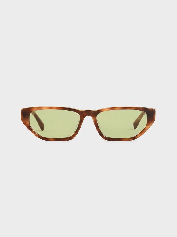 Acetate Tortoiseshell Cat-Eye Sunglasses, T. Shell, hi-res