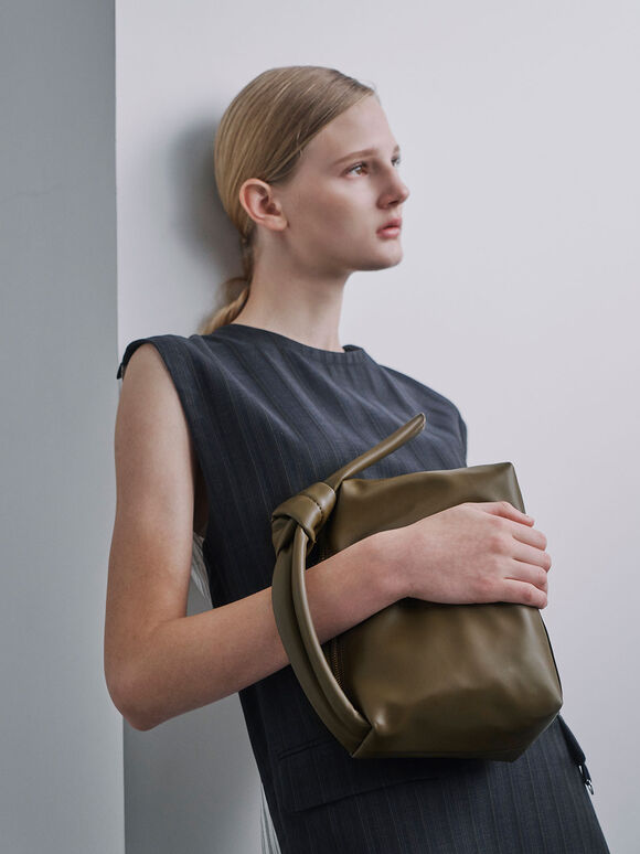 Slouchy Hobo Bag, Olive, hi-res