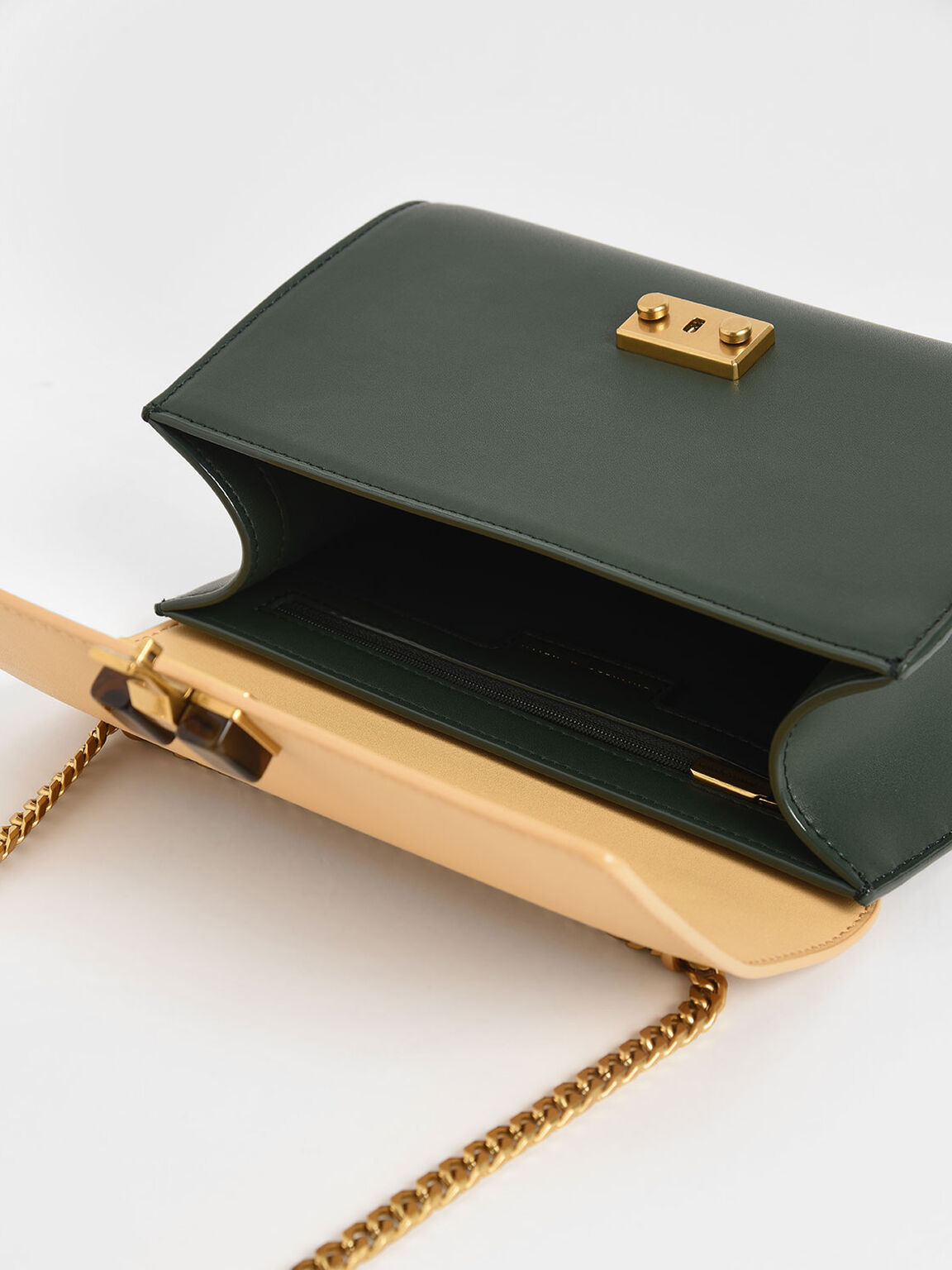 Two-Tone Stone Embellished Clutch, Multi, hi-res