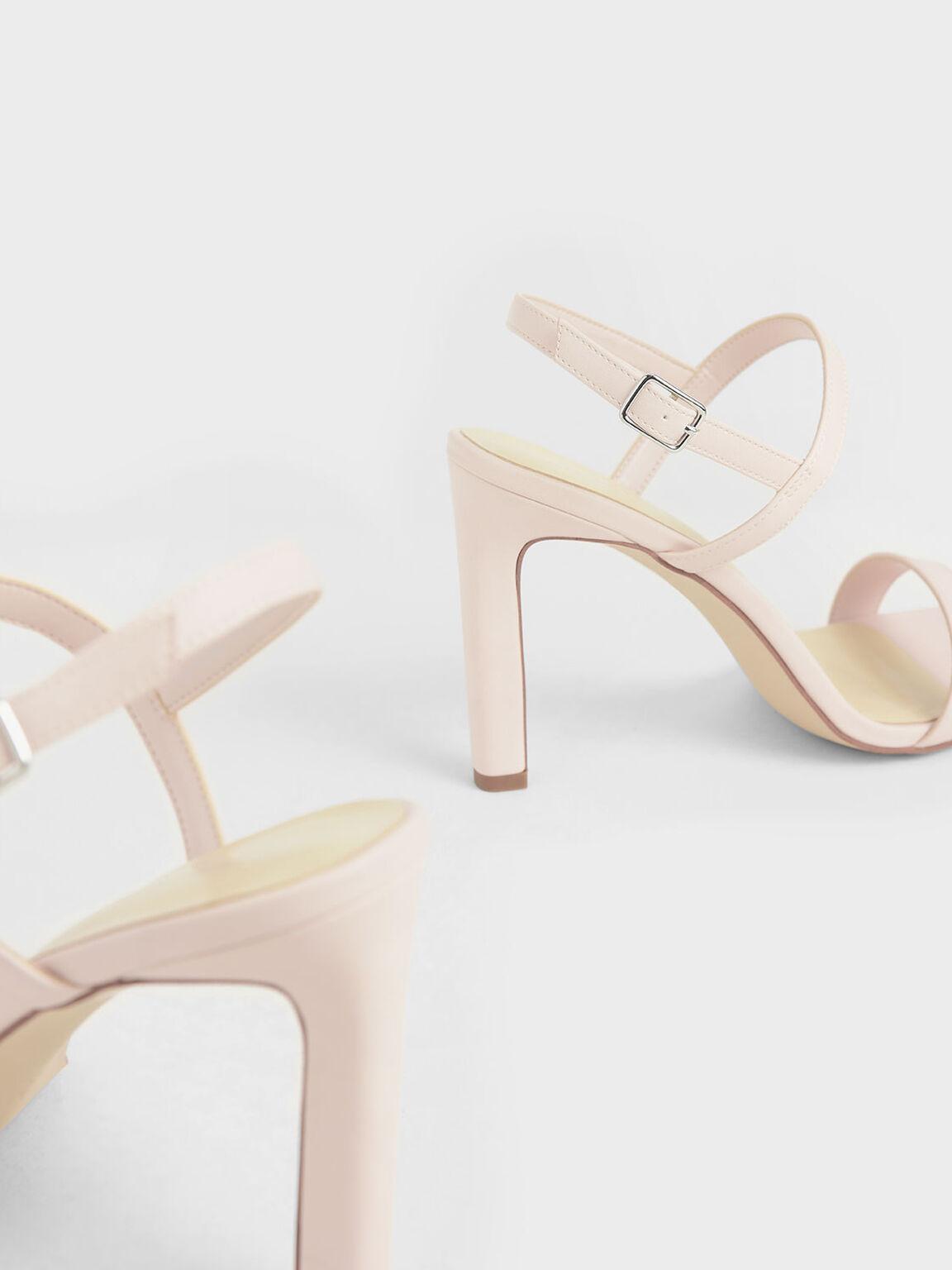 Slingback Stiletto Heel Sandals, Pink, hi-res