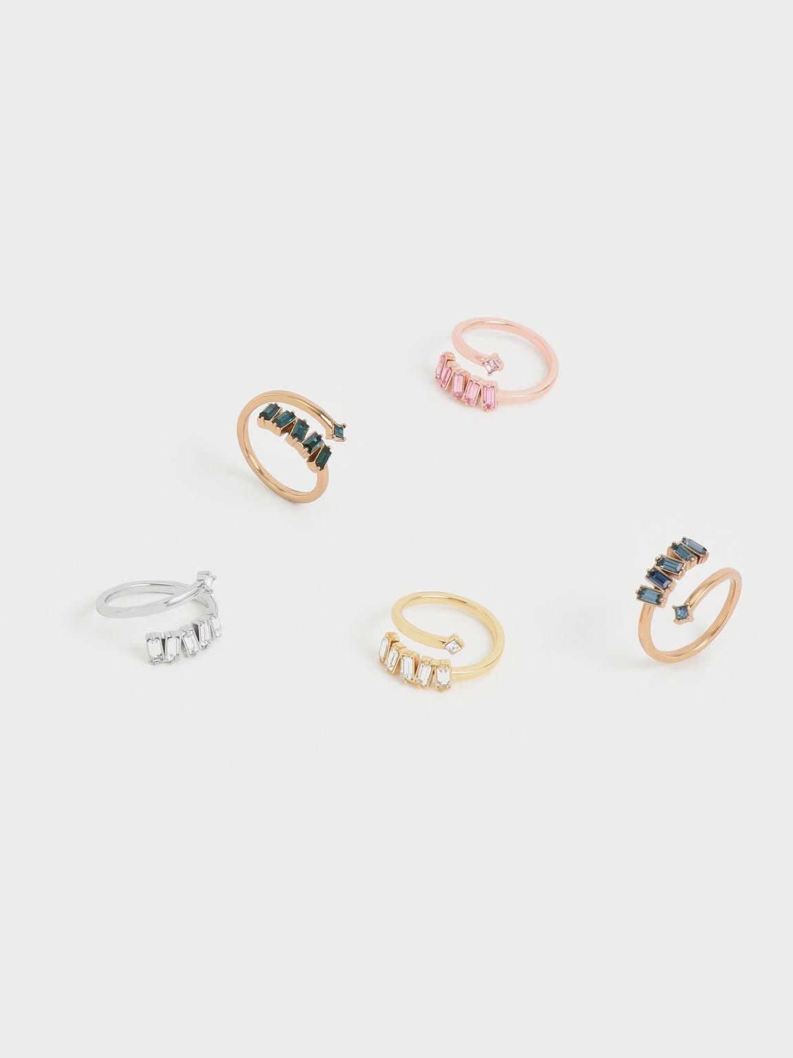 Swarovski® Crystal Embellished Wrap Ring, Gold, hi-res