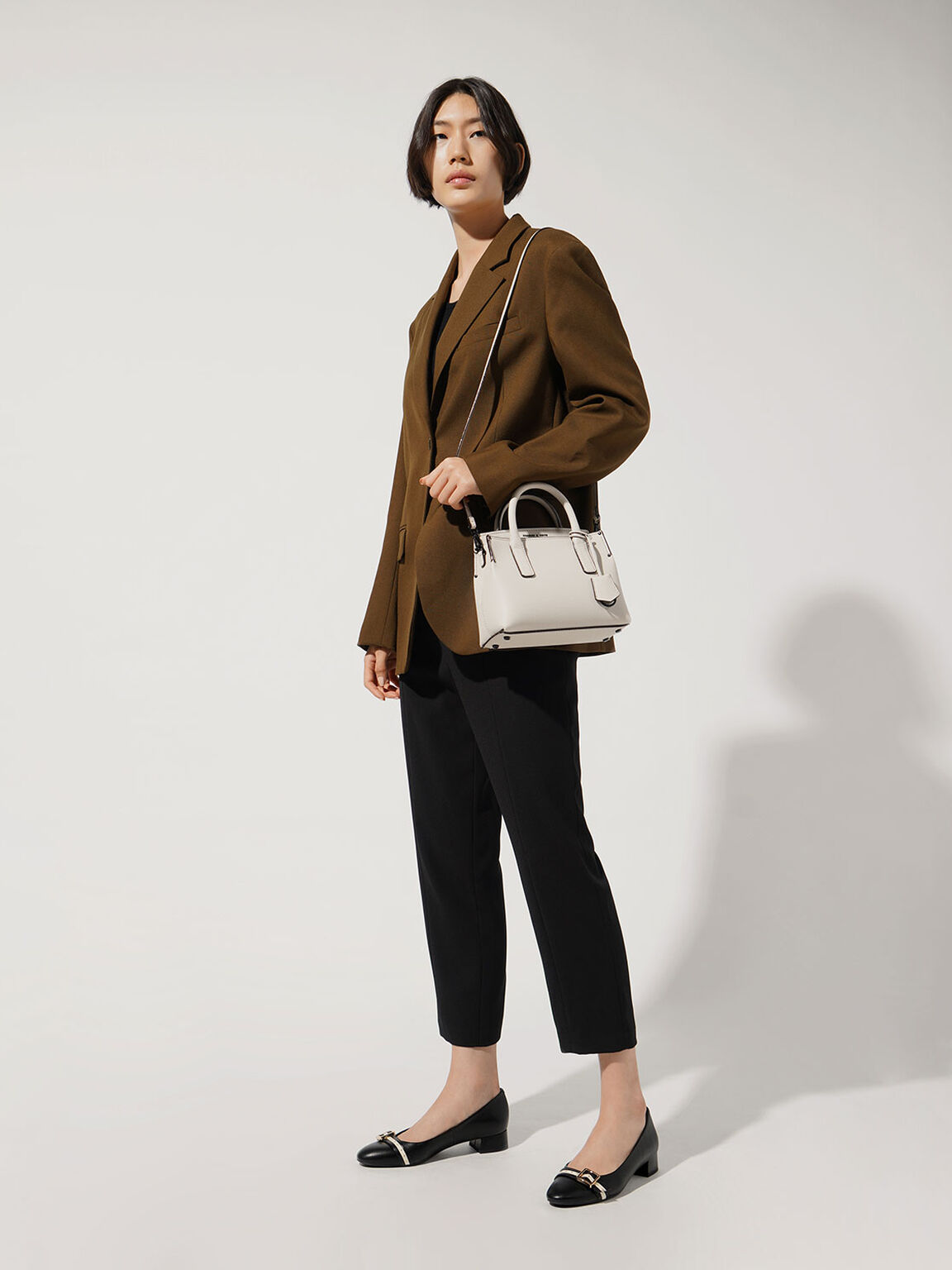 Double Handle Tote Bag, Cream, hi-res