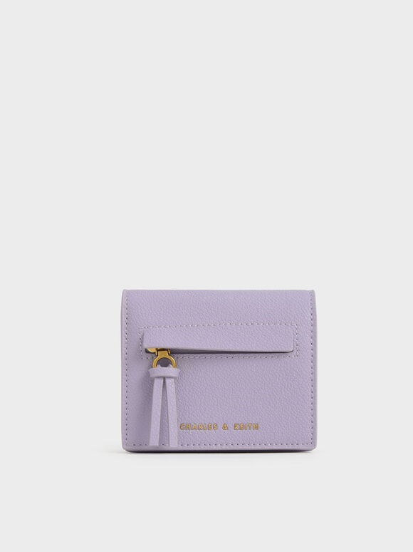 Snap Button Card Holder, Lilac, hi-res