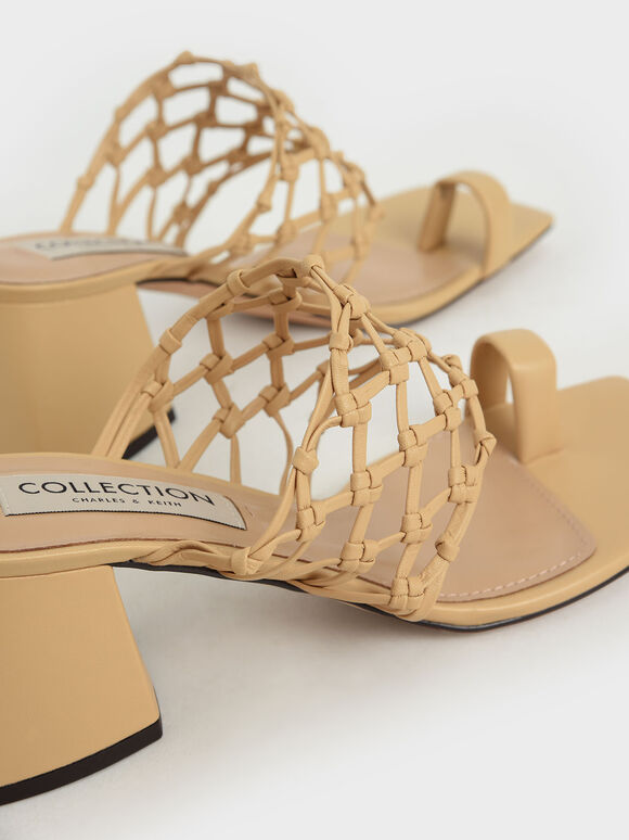 Limited Edition: Woven Toe Ring Sandals, Sand, hi-res