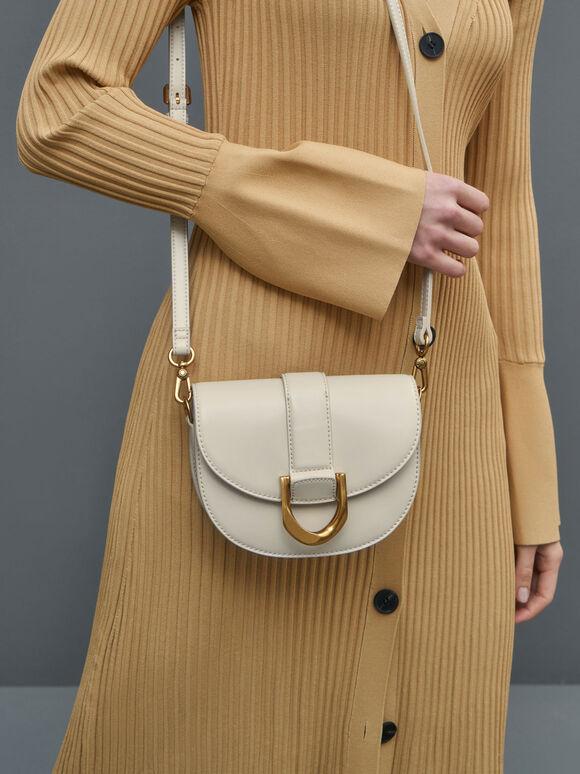 Mini Gabine Saddle Bag, Cream, hi-res