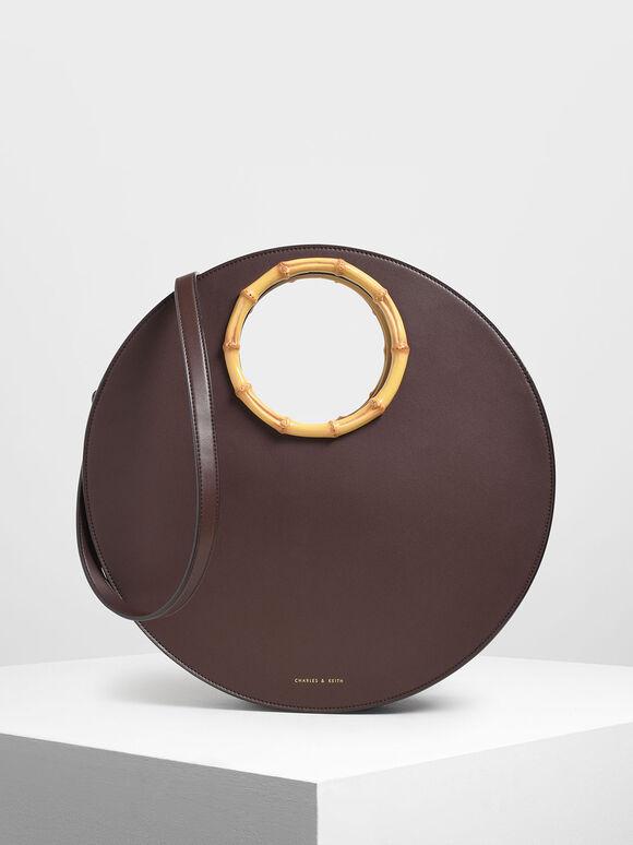 Circular Bag, Brown, hi-res