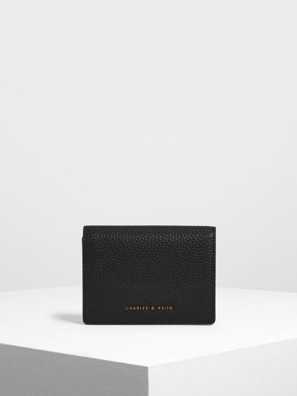 Classic Snap Button Wallet, Black, hi-res
