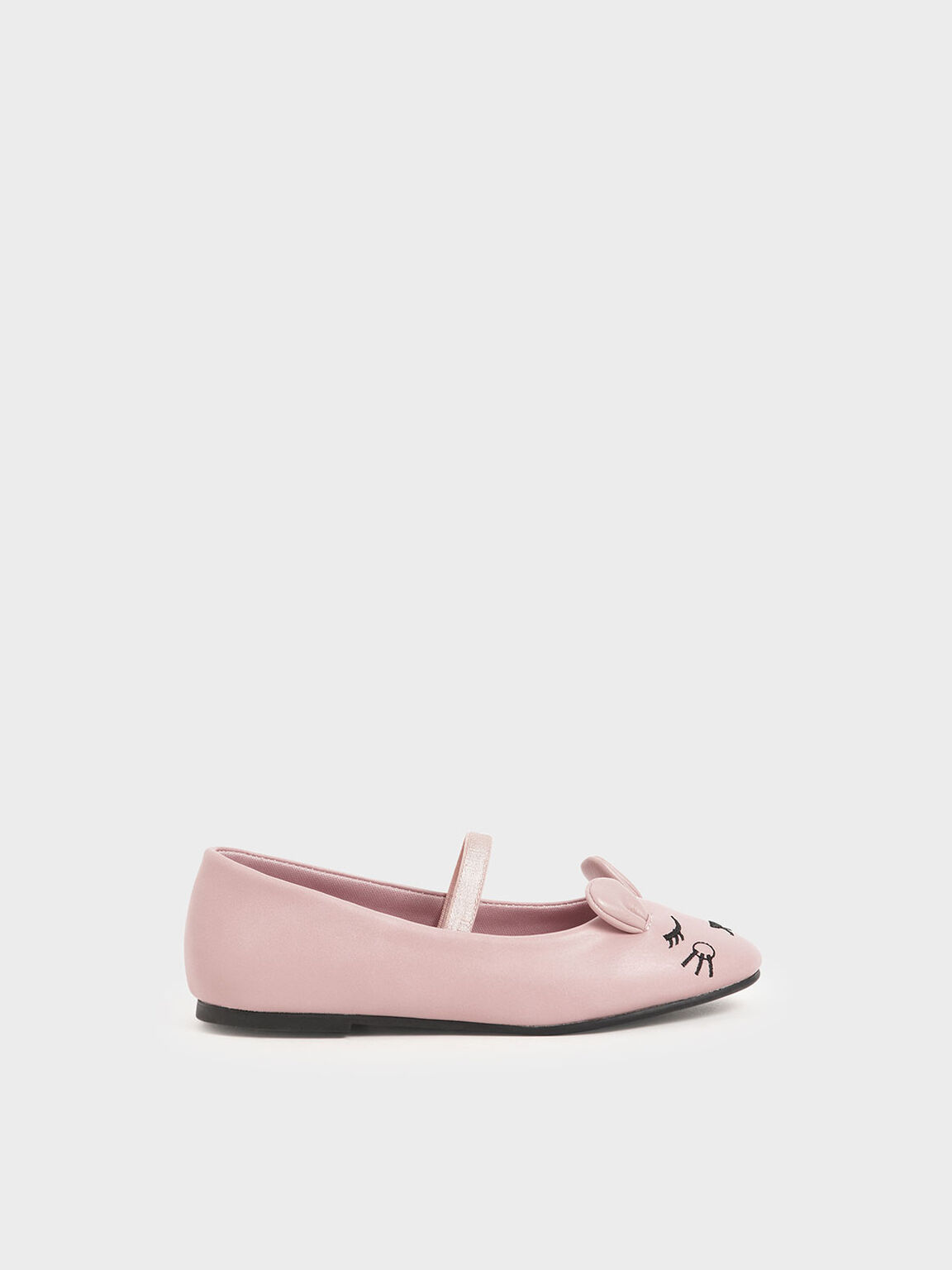 Girls' 'Rat Zodiac' Mary Jane Flats, Pink, hi-res