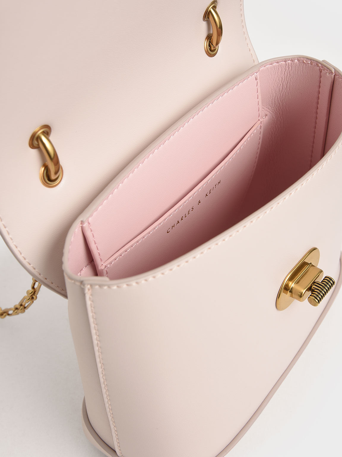 Stone-Embellished Top Handle Bag, Pink, hi-res