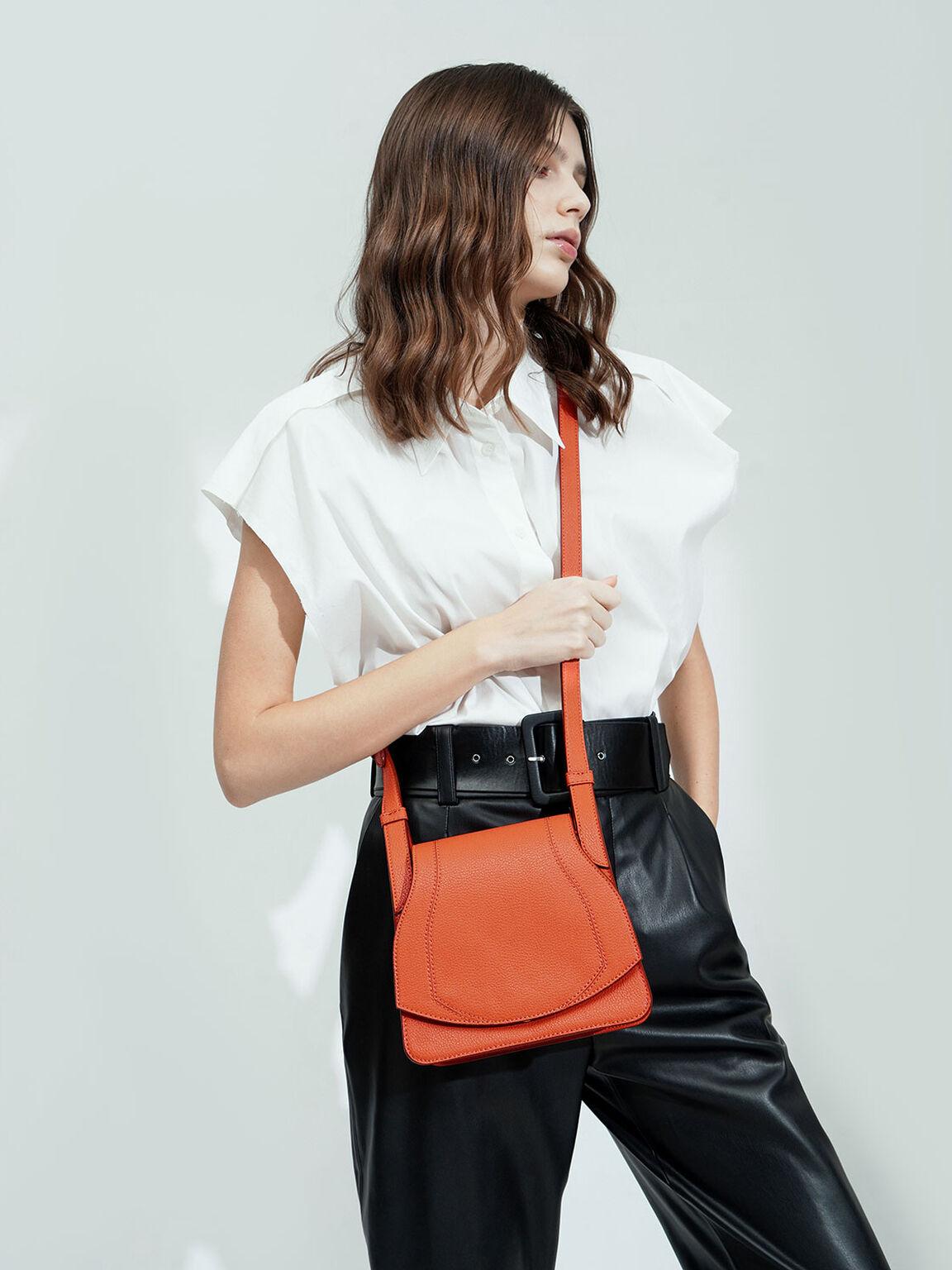 Small Crossbody Bag, Orange, hi-res