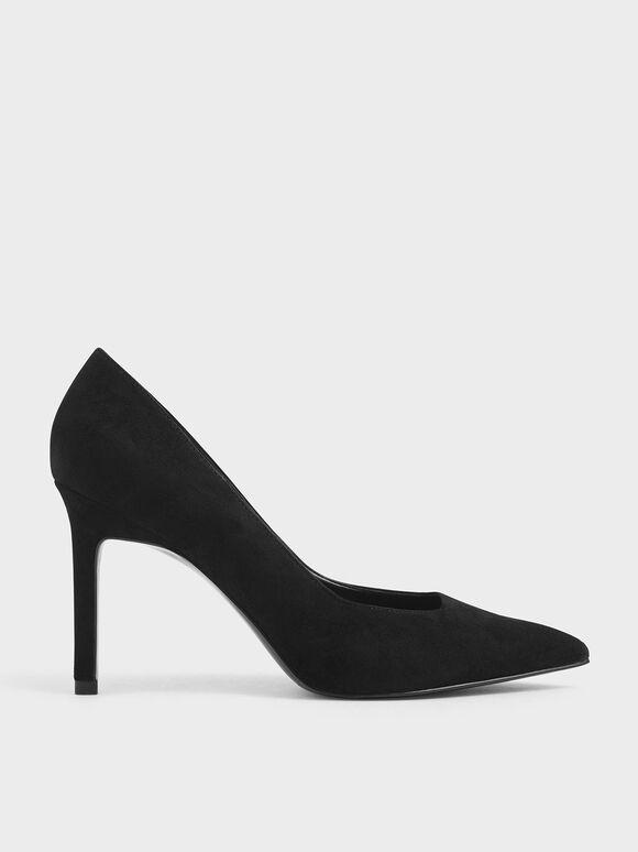Stiletto Pumps, Black Textured, hi-res