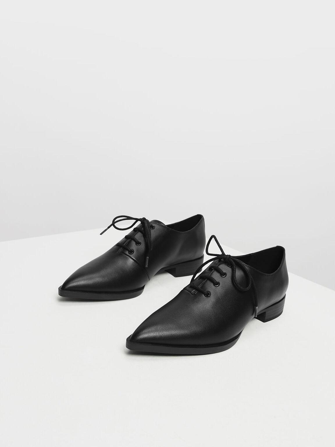 Pointed Oxfords, Black, hi-res