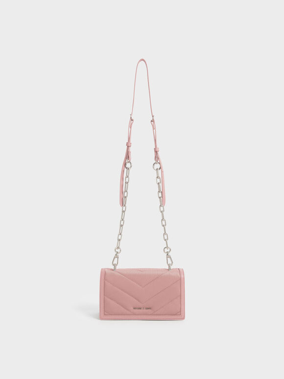 The Anniversary Series: Sonia Recycled Nylon Padded Wallet, Pink, hi-res