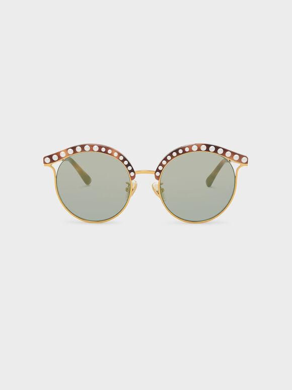 Embellished Sunglasses, T. Shell, hi-res