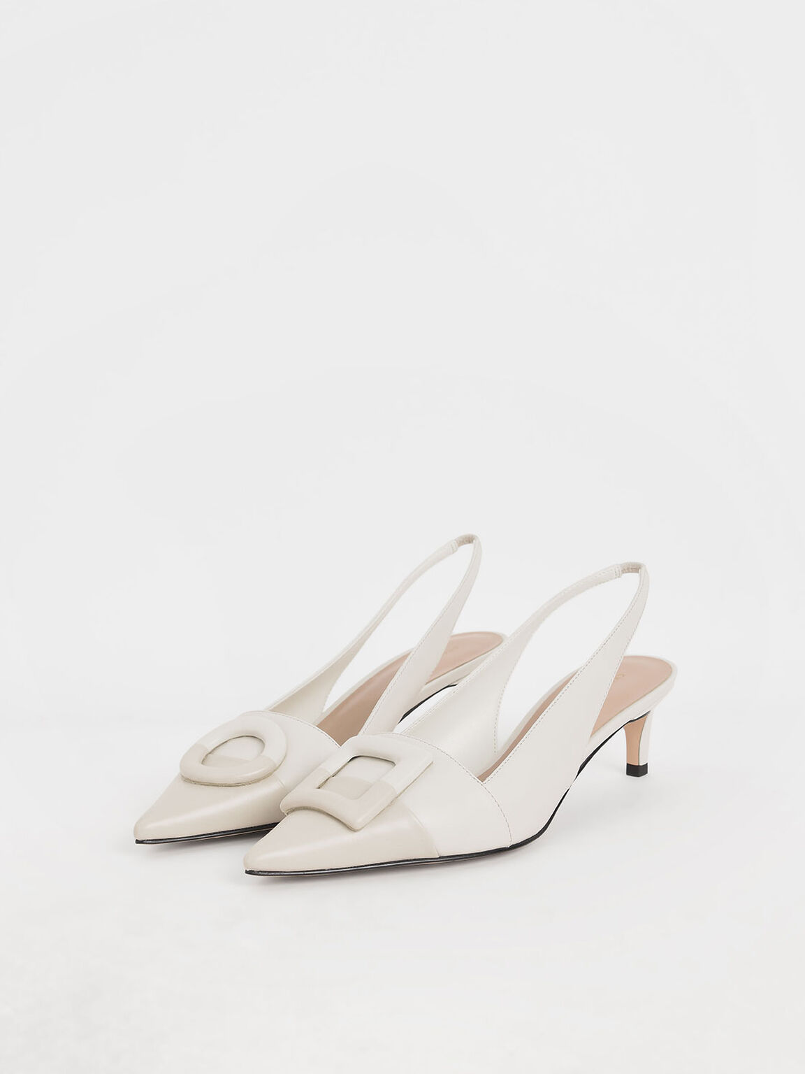 Mismatched Slingback Pumps, Chalk, hi-res