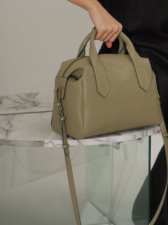 Double Handle Duffel Bag, Sage Green, hi-res