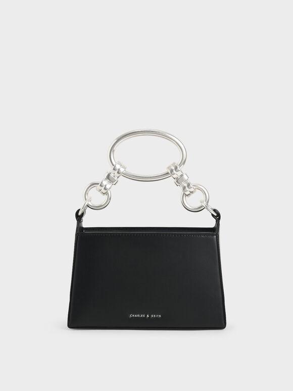 Ring Handle Bag, Black, hi-res