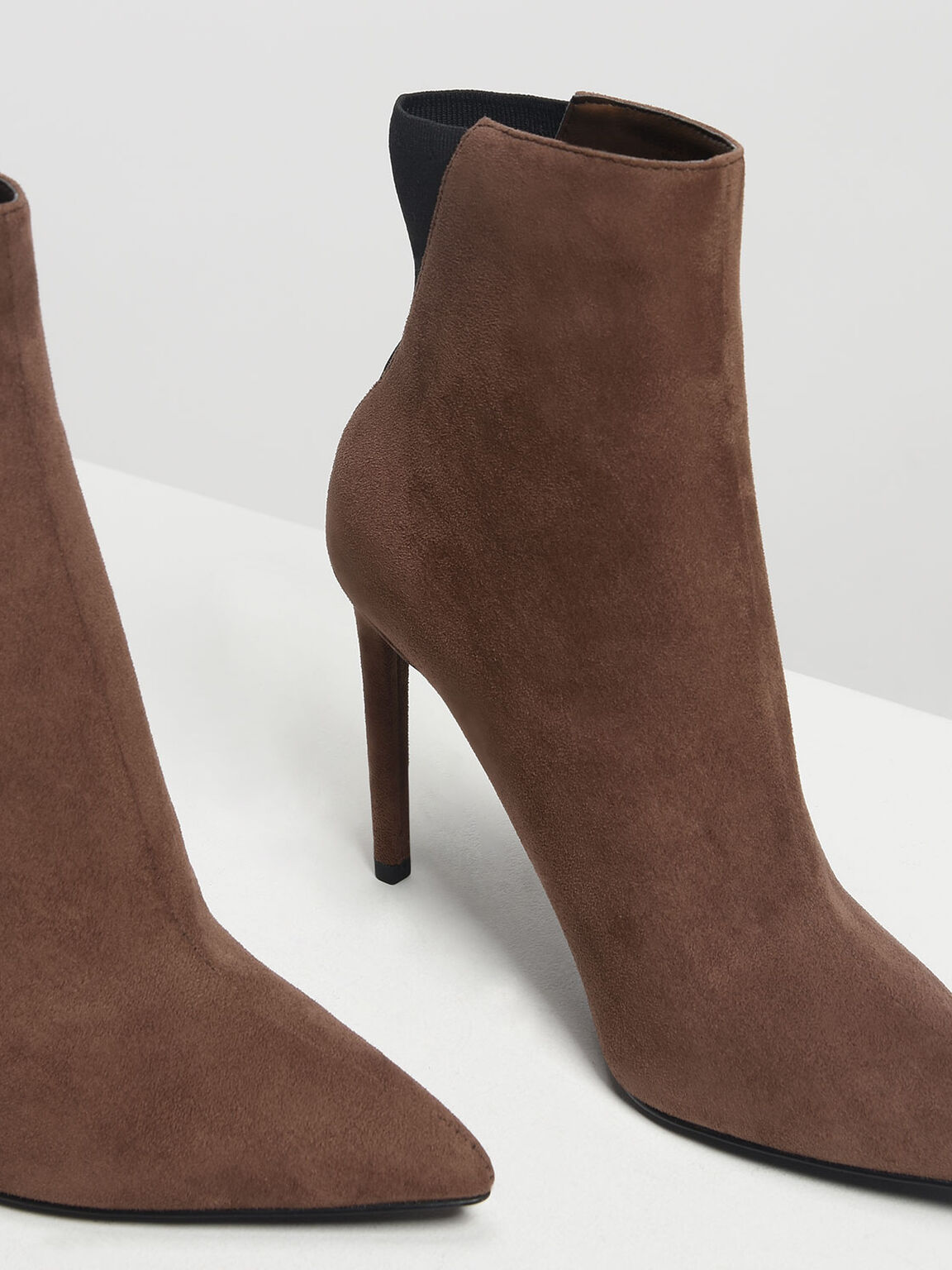 Pointed Stiletto Calf Boots, Mauve, hi-res