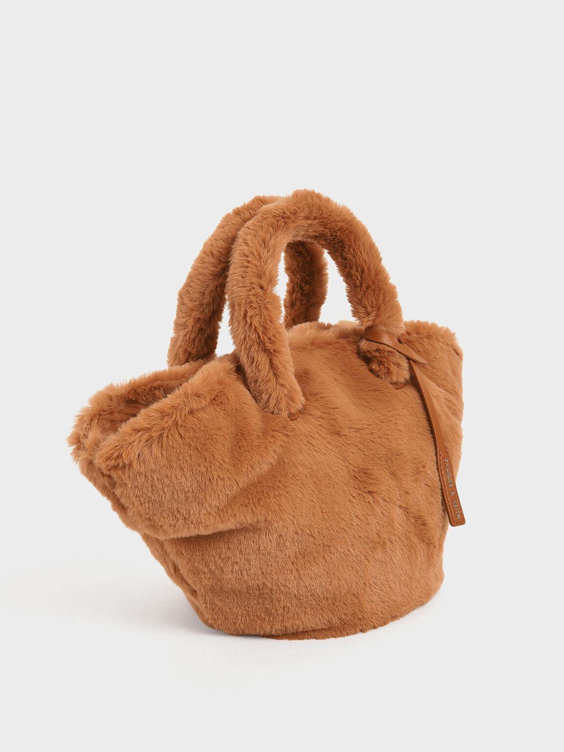 Textured Trapeze Bag, Tan, hi-res