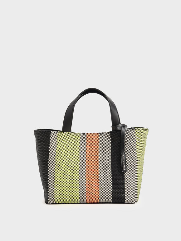 Jacquard Striped Tote Bag, Multi, hi-res