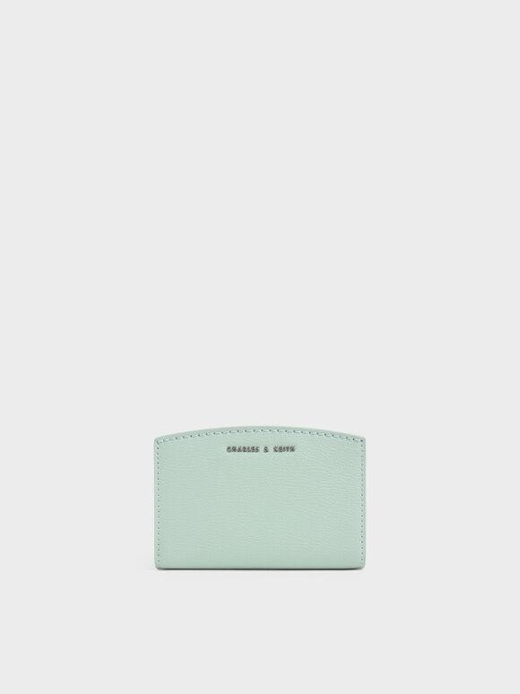 Snap Button Card Holder, Mint Green, hi-res