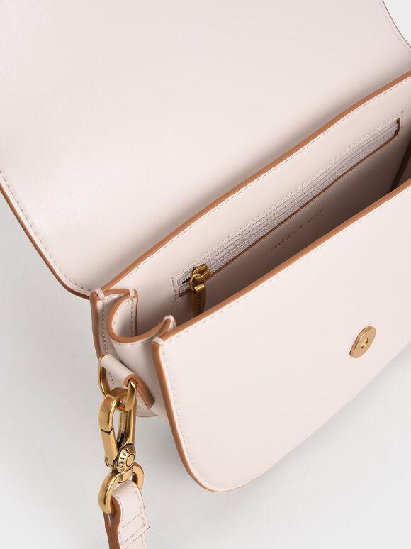 Gabine Saddle Bag, Pink, hi-res