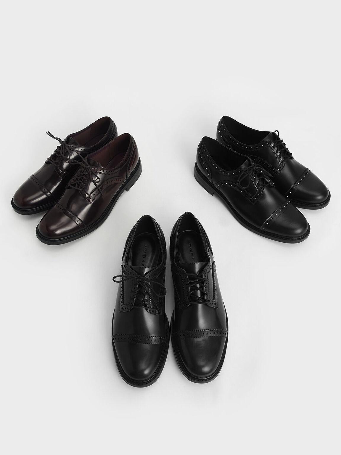 Classic Brogue Shoes, Black, hi-res