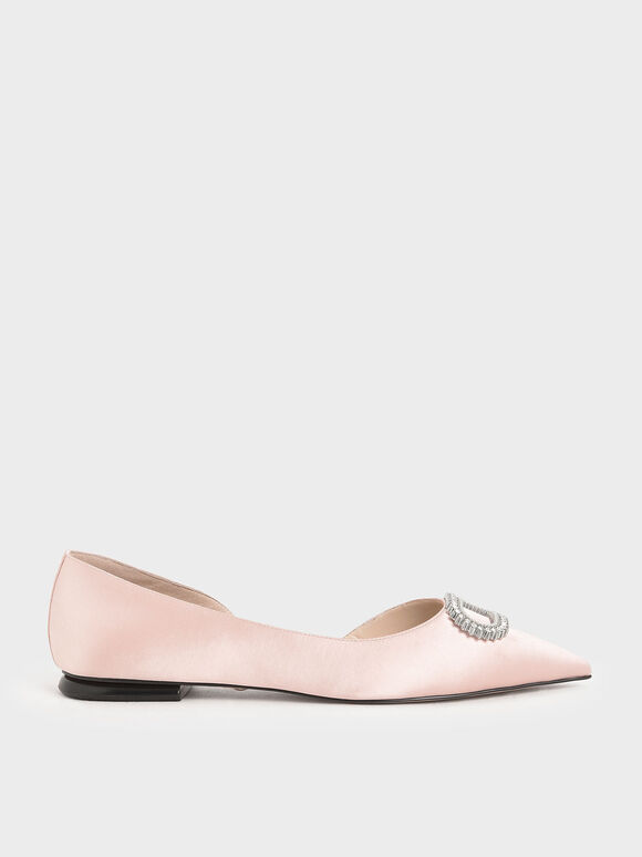 Wedding Collection: Embellished Ballerina Flats, Pink, hi-res