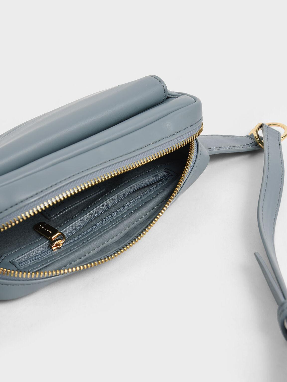 Quilted Rectangular Belt Bag, Moss, hi-res