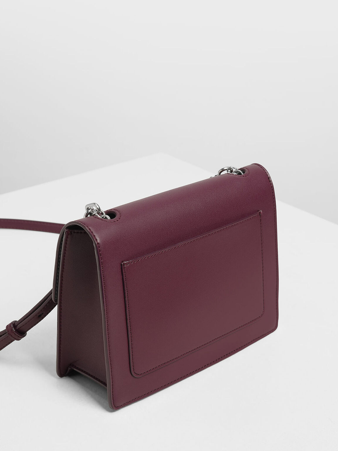 Padlock Shoulder Bag, Prune, hi-res