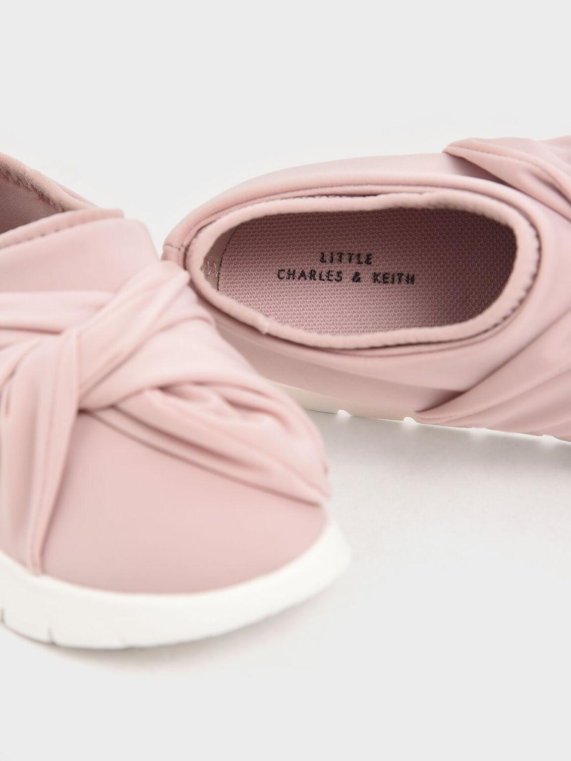 Girls' Neoprene Slip-On Sneakers, Pink, hi-res