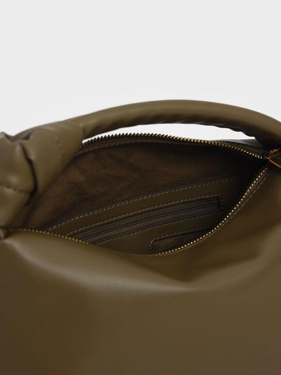 Slouchy Hobo Bag, Olive, hi-res