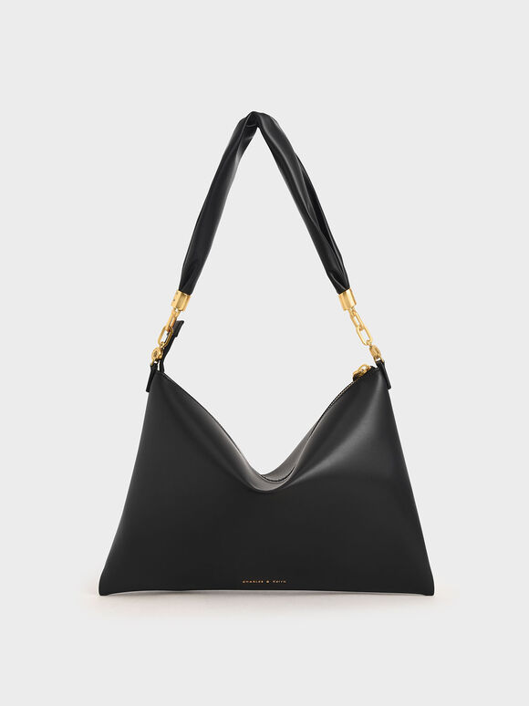 Hobo Bag, Black, hi-res