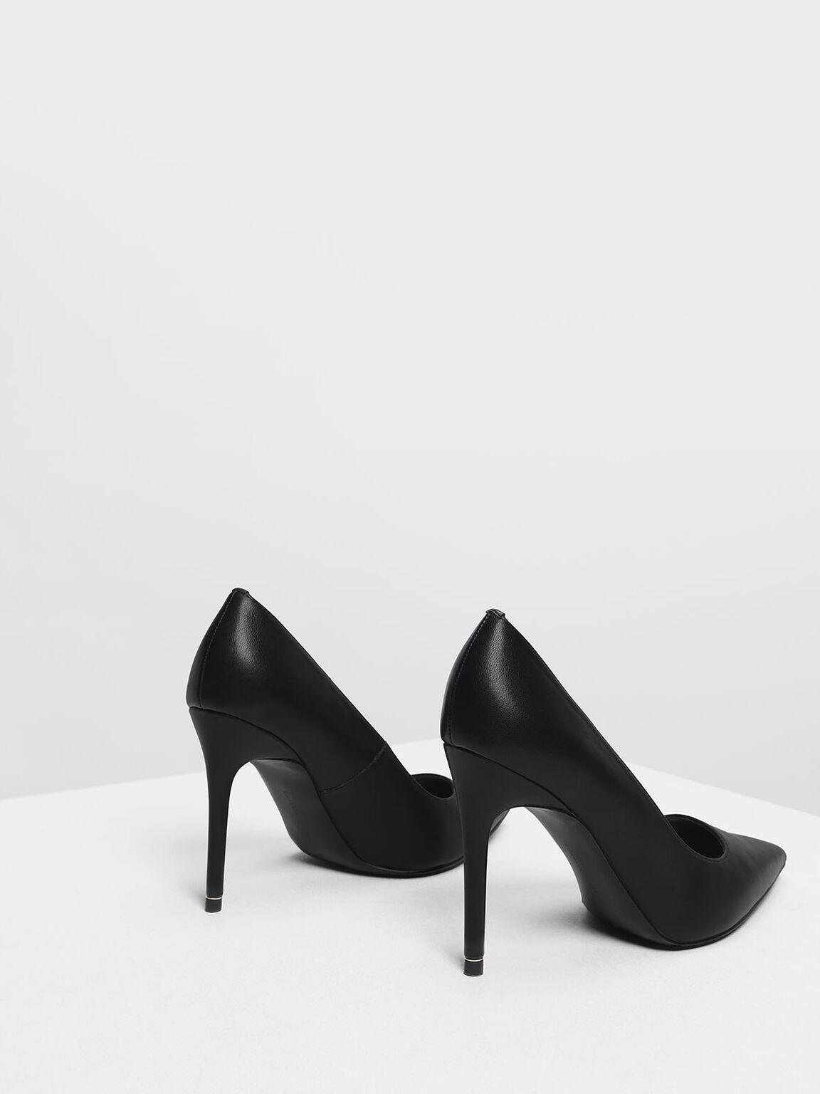 Pointed Toe Pumps, Black, hi-res