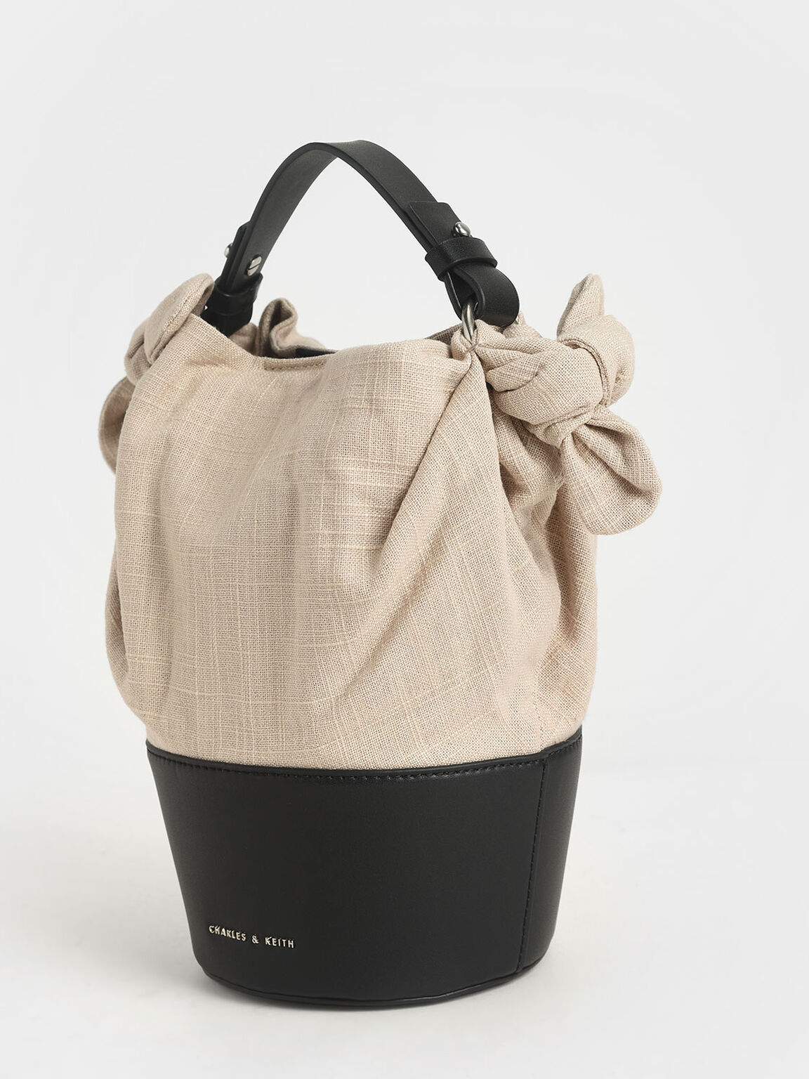 Summer 2020 Responsible Collection: Linen Bucket Bag, Taupe, hi-res